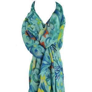 Echo New York Multicolor Floral Wrap Scarf New